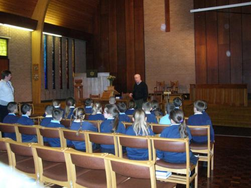Students of Meadowhead Junior School visited the United Reform Church Wesbury Gardens, Blackburn, on 26 February 2014